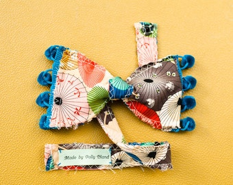 Made to Order Umbrella Print Bow Tie by Polly Bland