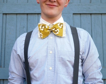 Made to Order Men's Yellow Ochre Bow Tie