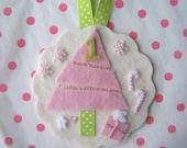 Pink First Christmas Tree Merino Wool Felt Ornament