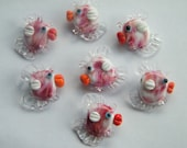 7 fishes, lampwork