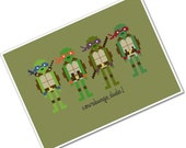 The *Original* Pixel People - Teenage Mutant Ninja Turtles - PDF Cross Stitch Pattern - INSTANT DOWNLOAD