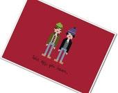 Pixel People - Bob & Doug McKenzie - PDF Cross-stitch Pattern - INSTANT DOWNLOAD