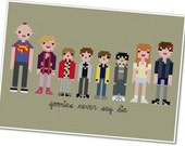 The *Original* Pixel People - The Goonies - PDF Cross-stitch Pattern - INSTANT DOWNLOAD