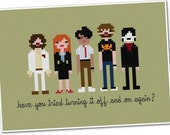 The *Original* Pixel People - The IT Crowd - Cross-stitch PDF Pattern - INSTANT Download