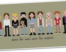 Empire Records - The *Original* Pixel People - PDF Cross-stitch Pattern - INSTANT DOWNLOAD