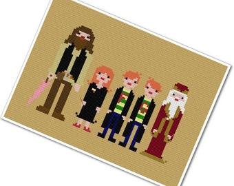 Harry's Friends - The *Original* Pixel People - PDF Cross Stitch Pattern - INSTANT DOWNLOAD