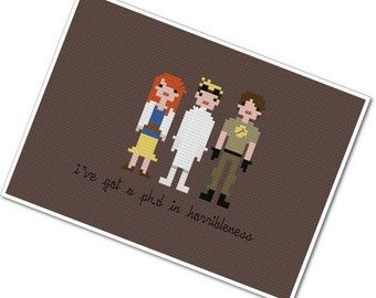 Dr. Horrible's Sing Along Blog - The *Original* Pixel People - PDF Cross-stitch Pattern - INSTANT DOWNLOAD