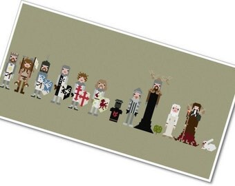 Monty Python & the Holy Grail - The *Original* Pixel People - PDF Cross-stitch Pattern - INSTANT DOWNLOAD