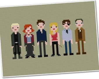 Buffy the Vampire Slayer - The *Original* Pixel People - PDF Cross-stitch Pattern - INSTANT DOWNLOAD