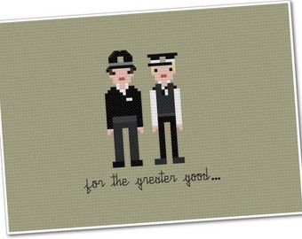 Hot Fuzz - The *Original* Pixel People - Cross stitch PDF Pattern - INSTANT DOWNLOAD