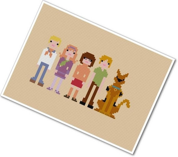 The *Original* Pixel People - Scooby Doo, Where Are You - PDF Cross Stitch Pattern - INSTANT DOWNLOAD