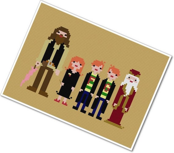The *Original* Pixel People - Harry's Friends - PDF Cross Stitch Pattern - INSTANT DOWNLOAD