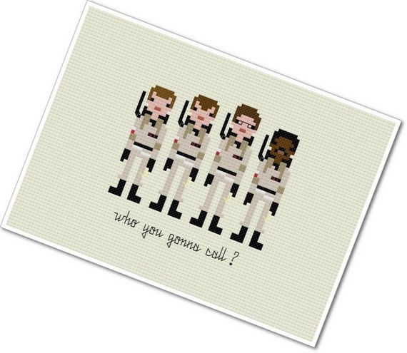Pixel People - Ghostbusters - PDF Cross Stitch Pattern - INSTANT DOWNLOAD