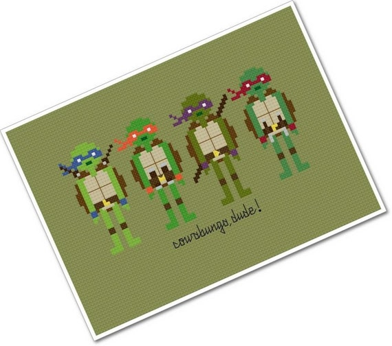 Teenage Mutant Ninja Turtles - The *Original* Pixel People - PDF Cross Stitch Pattern - INSTANT DOWNLOAD