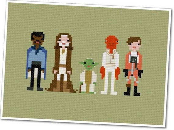 Star Wars - Allies - The *Original* Pixel People - PDF Cross-stitch Pattern - INSTANT DOWNLOAD