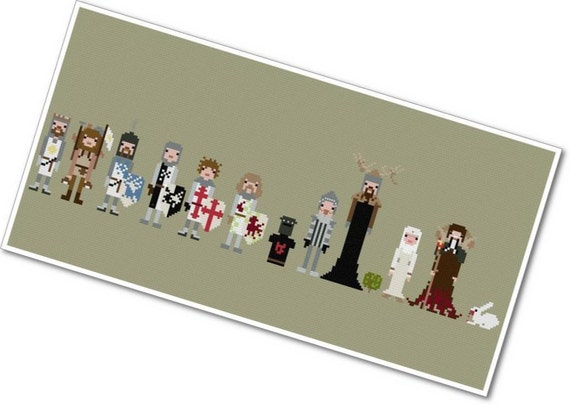 The *Original* Pixel People - Monty Python & the Holy Grail - PDF Cross-stitch Pattern - INSTANT DOWNLOAD