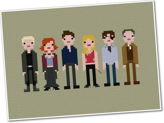 The *Original* Pixel People - Buffy the Vampire Slayer - PDF Cross-stitch Pattern - INSTANT DOWNLOAD