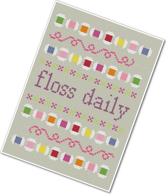 Floss Daily Sampler - PDF Cross-stitch Pattern - INSTANT DOWNLOAD