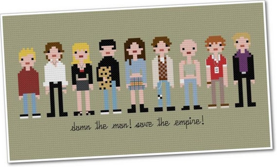 The *Original* Pixel People - Empire Records - PDF Cross-stitch Pattern - INSTANT DOWNLOAD