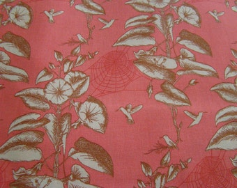 Botany by Lauren and Jesse Jung for Moda Fabric, Bird Toile Fabric, Coral Fabric, OOP