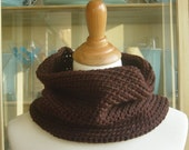 The Cary Cowl - Luxurious Hand Crochet Merino Wool Scarf