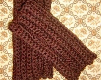 The Mini Cary Fingerless Gloves - Luxurious Hand Crochet Merino Wool Wristwarmers