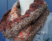 Sunset Ribbed Cowl, Shrug or Shoulder Warmer. HALF OFF SALE. Free Shipping.