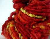 SALE- Handspun Art Yarn- Dragon- 2 oz