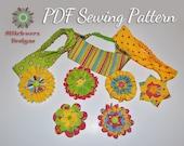 Girl's Headband Sewing Pattern, PDF Pattern, Fabric Flower, Hair Accessory, Girl's Sewing, Easy PDF Pattern