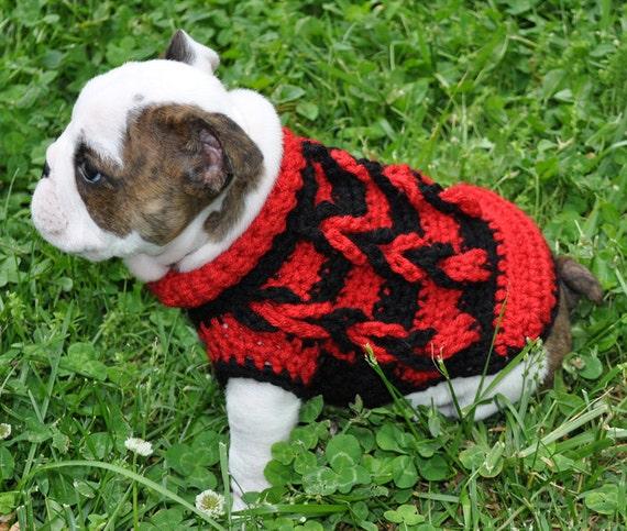 Crochet Pattern Small Dog Sweater Dog Sweater Dog Sweater