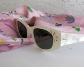 RESERVED Vintage Retro Sunglasses White Womens American Optical Complete with Lenses Stunning