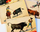 Antique  Mexican Postcards J. Granat Postcards Bullfighting Mexican Collection