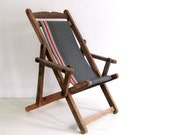 RESERVED for Janet Do Not Buy Vintage Chair Wood Folding Child's Beach Camp Chair dreamt