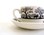 Vintage Wedgewood Eturia Cup & Saucer Kruger National England Barlaston dtteam