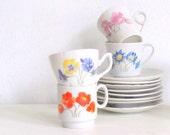 Vintage Childs Tea Set Demitasse Set Japan Florals Lovely eveteam