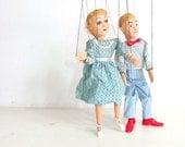 Vintage Hazelle Marionette Set Sally & Boyfriend  theteam eveteam