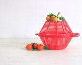 Vintage 1950s Fruit Basket Vegetable Basket Lettuce Dryer Retro Kitchen Decor