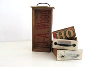 Vintage Industrial Wood Drawer / Wood Shop Drawer / Industrial Storage SALE