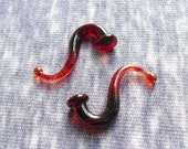 Cherry Haze 4g gauged ear plugs earrings talons for stretched piercings Made to Order
