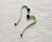Moss Smoothie 8g gauged talons ear plugs earrings for stretched piercings