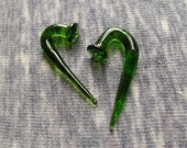 Emerald 0g Spiked Talons gauged ear plugs earrings talons for stretched piercings