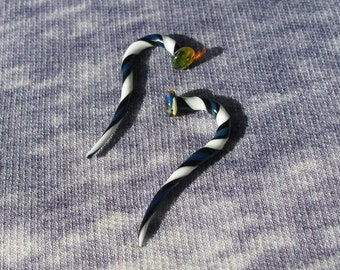 Tsunami 8g gauged ear plugs earrings talons for stretched piercings