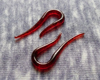 Ruby Hooks 4g Talons gauged ear plugs earrings talons for stretched piercings Made to Order