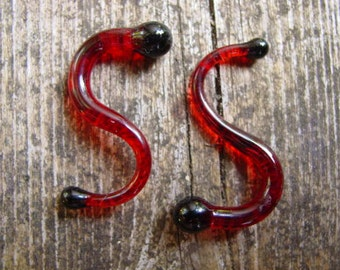 Vampire Obsession 4g gauged ear plugs earrings talons for stretched piercings Made to Order
