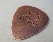 U.S...Personalized Guitar Pick Rustic Masculine Manly Copper