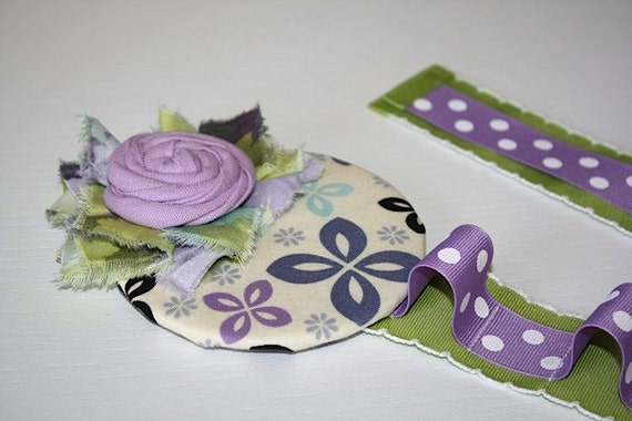 Free Shipping Hair Accessories Holder- Lavender and Green