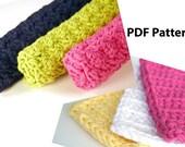 Crochet PDF Patterns (2) - Kitchen Dishcloth & Kitchen Scrubbie