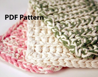 Crochet PDF Pattern - Kitchen Scrubbie - DIY Digital Printable Tutorial - Reusable Sponge