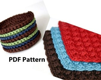 Crochet PDF Patterns (2) - Bath Scrubbies & Face Scrubbies / Coasters - DIY DIgital Printable Tutorial - Reusable Eco Friendly Option