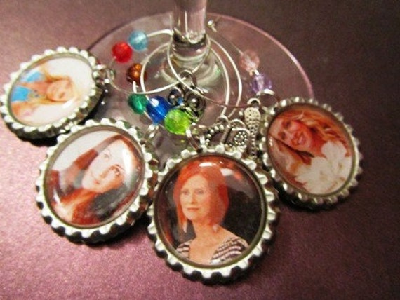 Wine Charms - Sex and the City Ladies
